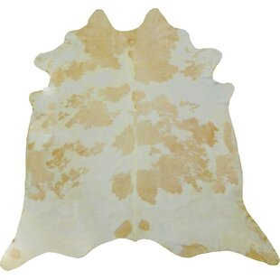 Affordable Price Large Brazilian Cowhide Beige/Off -White Area Rug By Chesterfield Leather