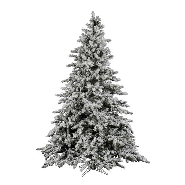 Vickerman Flocked Utica 7.5' Green Fir Artificial Christmas Tree ...
