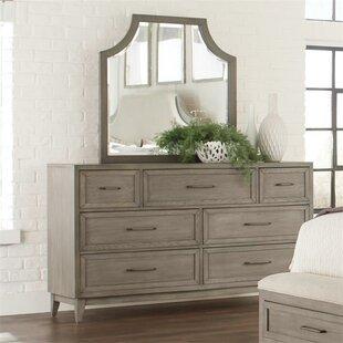 Gracie Oaks Workman 7 Drawer Dresser with Mirror Image
