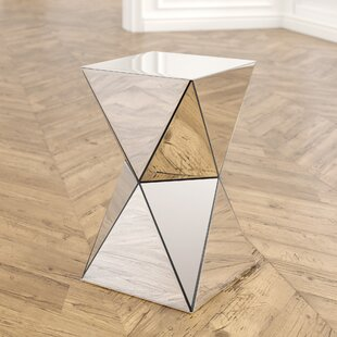 Conrad Mirrored Accent End Table by Willa Arlo Interiors