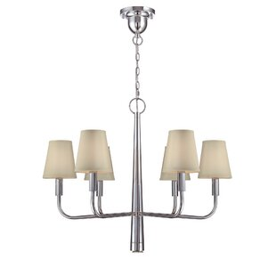 Shepard 6-Light Shaded Chandelier by Latitude Run