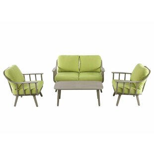 Burgher 4 Piece Sofa Seating Group with Cushions