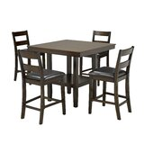 Tavarez 5-Piece Pub Set, Espresso by Red Barrel Studio®