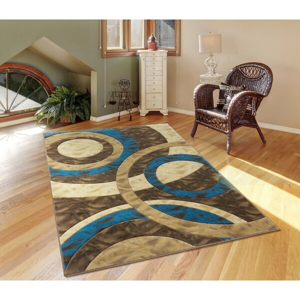 Wrought Studio Adonia Abstract Beige Brown Area Rug Wayfair