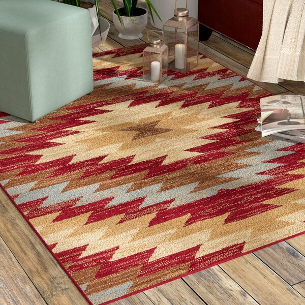 World Menagerie Binstead Southwestern Power Loom Red Indoor Area Rug & Reviews by World Menagerie
