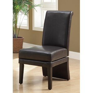 Swivel Leather Parson Chair by Monarch Specialti..