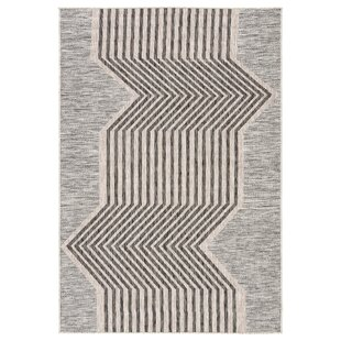 Minya Jaipur Living Gray/Black Indoor/Outdoor Area Rug