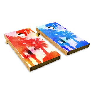 The Cornhole Crew Palm Trees Cornhole Board (Set of 2)