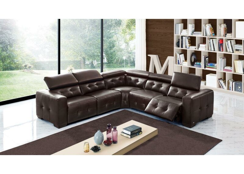 Orren Ellis Bulkley Symmetrical Leather Reclining Sectional Wayfair