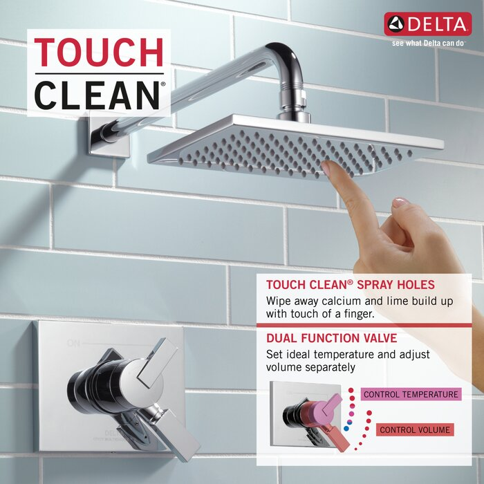 Vero 17 Series Volume Control Shower Faucet With Trim And Monitor