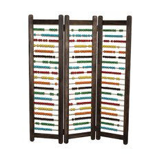 43 x 35 Abacus 3 Panel Room Divider by Screen Gems