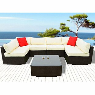Arwen 7 Piece Rattan Seating Group with Cushions