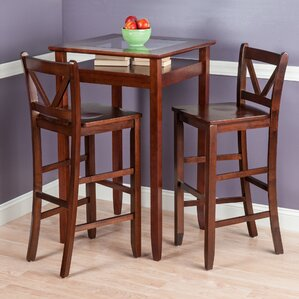 Delightful Belmont 3 Piece Pub Table Set
