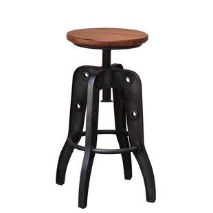 Doylestown Adjustable Height Swivel Bar Stool 17 Stories
