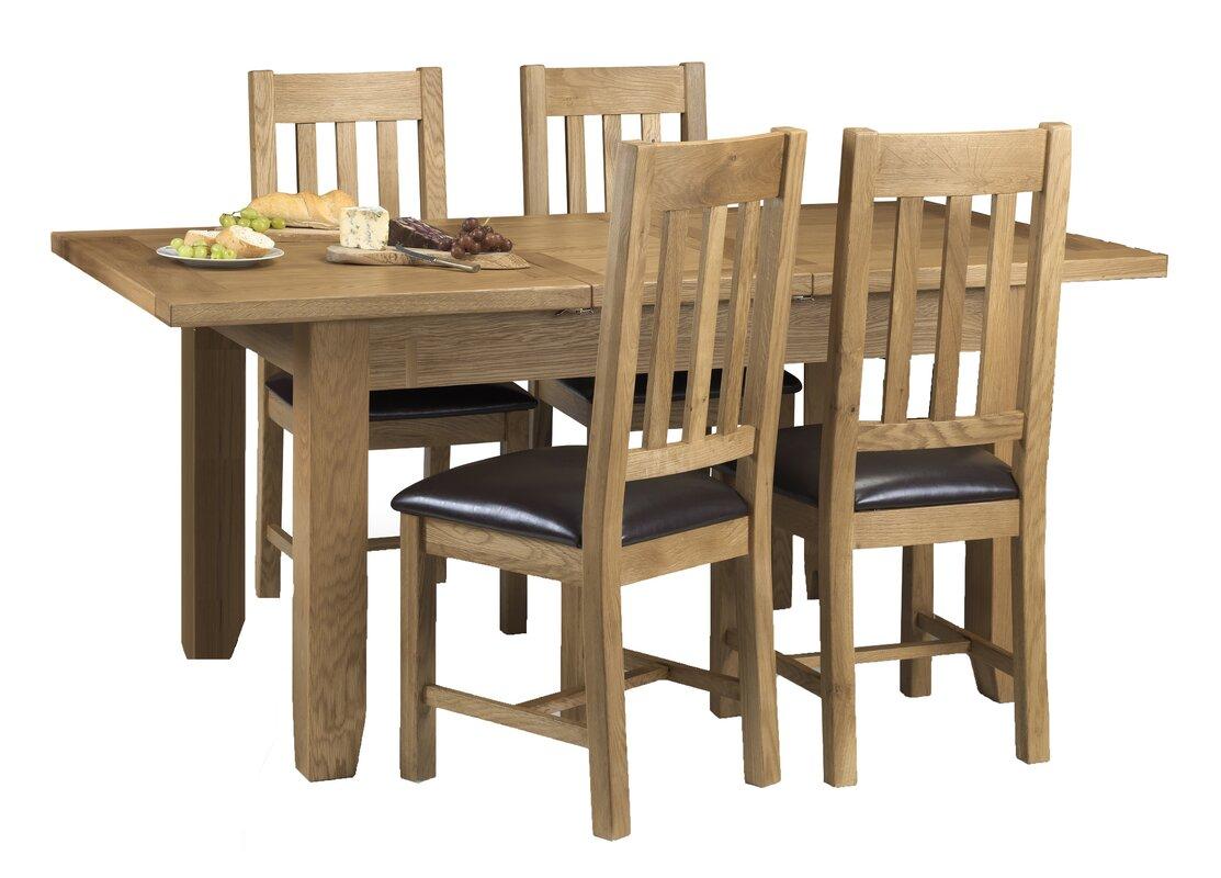 ClassicLiving Essgruppe Berwick mit ausziehbarem Tisch und 4 Stühlen ...