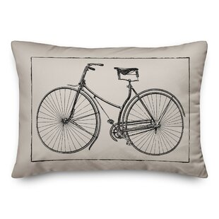 Burgess Vintage Bike Lumbar Pillow