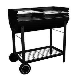 Half Drum Charcoal Barbecue by Kingfisher