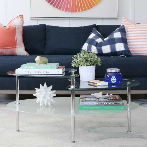 Living Room Glass Tables glass coffee tables you'll love | wayfair