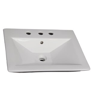 Price Check Opulence Vitreous China 23 Pedestal Bathroom Sink with Overflow By Barclay