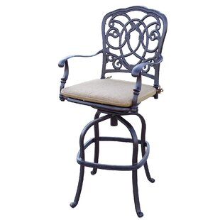 Dolby Swivel 29 Patio Bar Stool with Cushion (Set of 6) by Astoria Grand