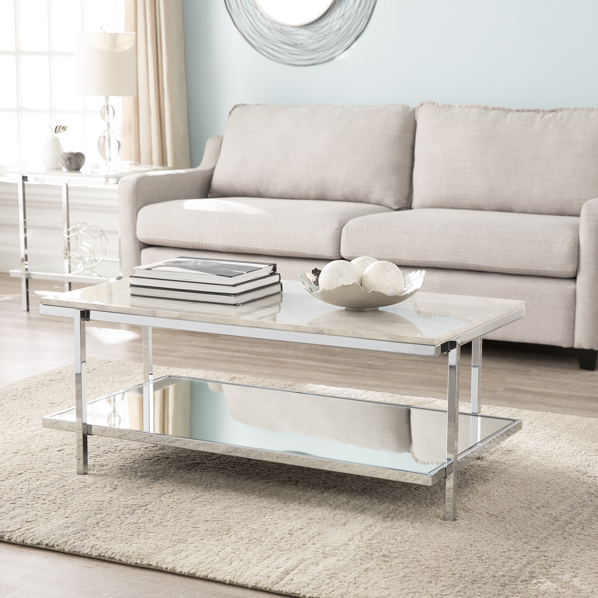 Miraculous Skipton Faux Marble 3 Piece Coffee Table Set Caraccident5 Cool Chair Designs And Ideas Caraccident5Info