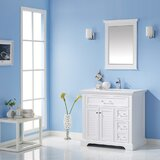 Larry 36 Single Bathroom Vanity Set with Mirror by Rosecliff Heights