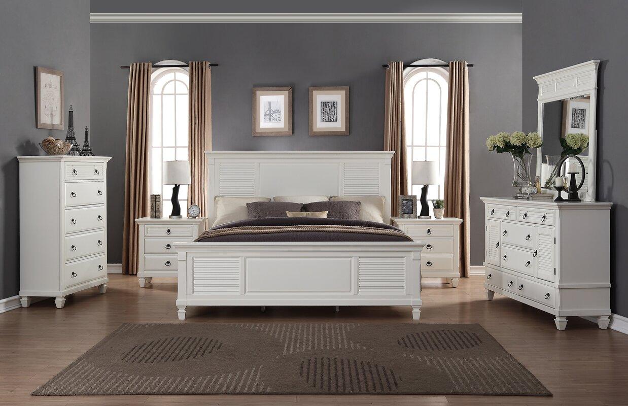 6 piece bedroom set. Regitina Queen Platform 6 Piece Bedroom Set Roundhill Furniture