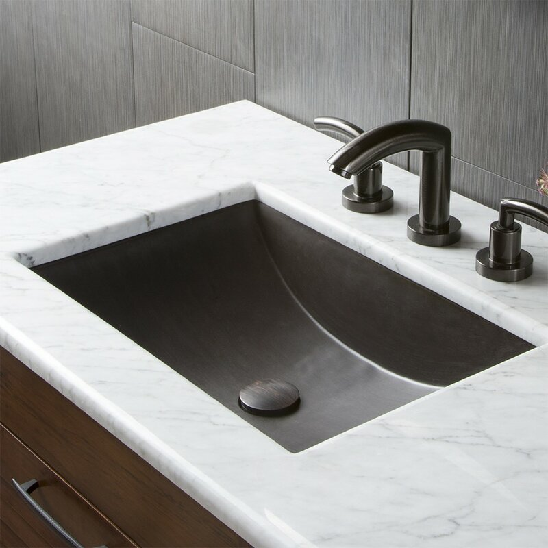 undermount bathroom sink. Brilliant Sink Cabrillo Stone Rectangular Undermount Bathroom Sink For Wayfair