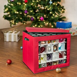 120-Count Container Ornament Storage
