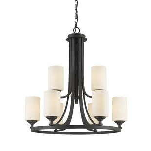 Beegle 9-Light Shaded Chandelier by Fleur..