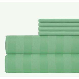 Aspire Linens 6 Piece 500 Thread Count Egyptian Quality Cotton Sheet Set
