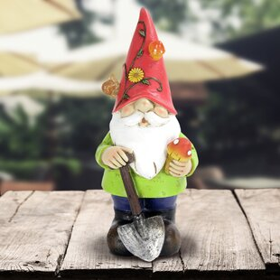 Solar Gnome Statue By Exhart