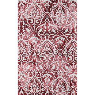 Lucy Hand-Hooked Rose Area Rug by Bungalow Rose