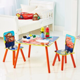 Children's 3 Piece Table and Chair Set by Cars