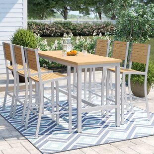 Hillard 7 Piece Bar Height Dining Set by Sol 72 Outdoor