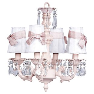 Fountain 4-Light Shaded Chandelier by Jubilee Collection