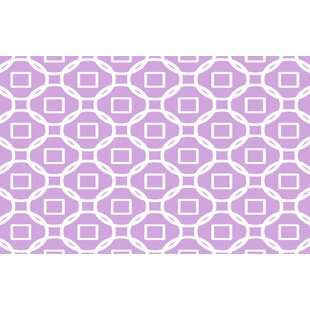 Deals Modern Geometric Lavender Rug By Manual Woodworkers & Weavers