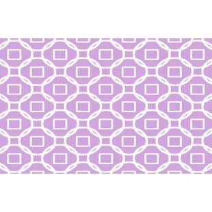 Top Reviews Modern Geometric Lavender Rug ByManual Woodworkers & Weavers