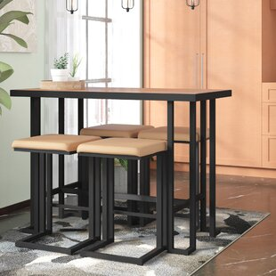 Pinnix 5 Piece Counter Height Dining Set by Union Rustic