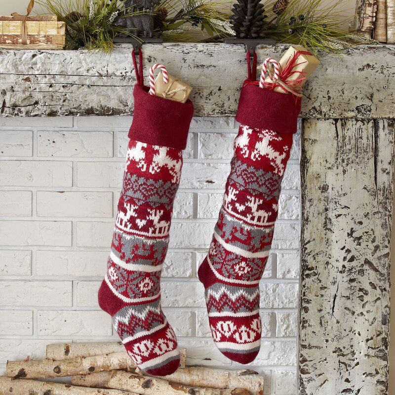 Cable Knit Christmas Stockings - Christmas Cards