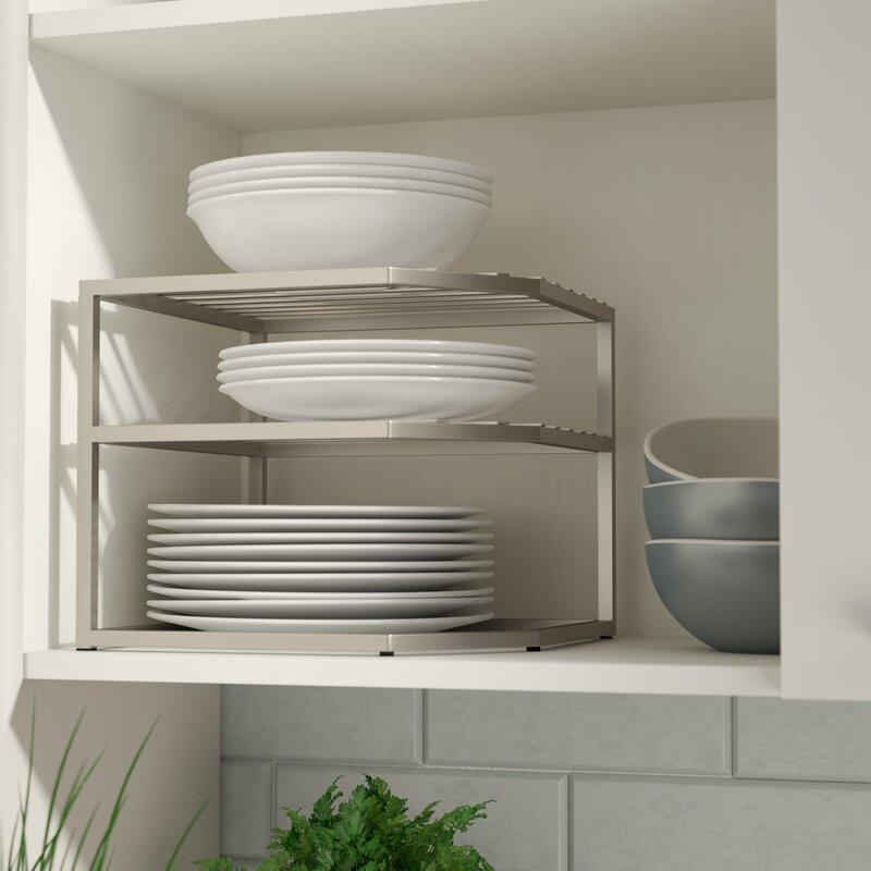 Rebrilliant Prevatte Corner Kitchen Cabinet Organizer Rack ...