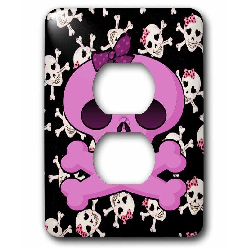 3drose Sugar Skulls 1 Gang Duplex Outlet Wall Plate Wayfair