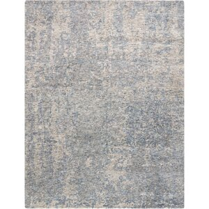 Aroon Hand-Knotted Graphite Area Rug