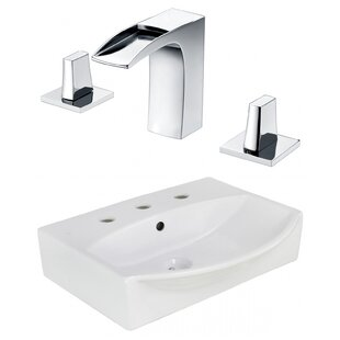 Ceramic 19.5 Bathroom Sink with Faucet and Overflow ByRoyal Purple Bath Kitchen