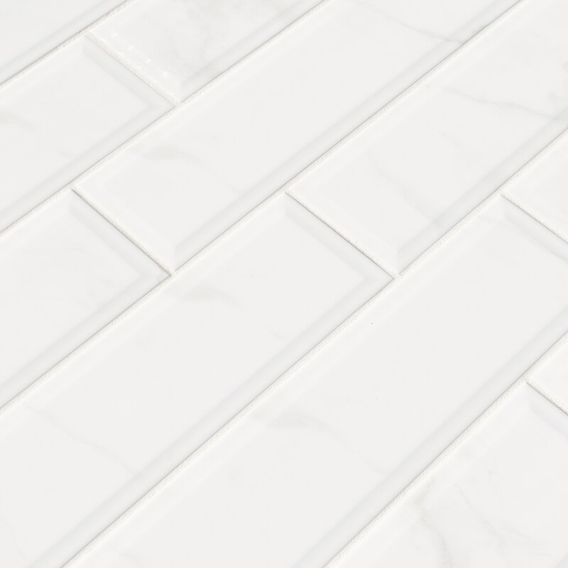 MSI Classique Carrara X Ceramic Tile In White Wayfair - 16 x 16 white ceramic floor tile