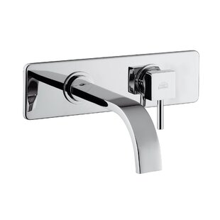 WS Bath Collections Level LEA Concealed Single Lever Sink Faucet with Rectangular Spout