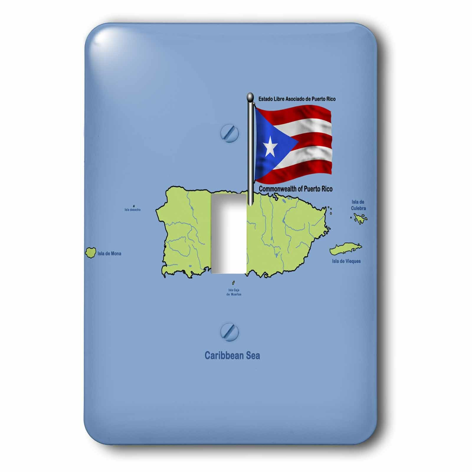 3drose The Commonwealth Of Puerto Rico 1 Gang Toggle Light Switch Wall Plate Wayfair