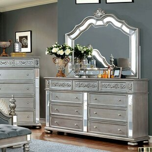 Gwendolyn 9 Drawer Double Dresser with Mirror
