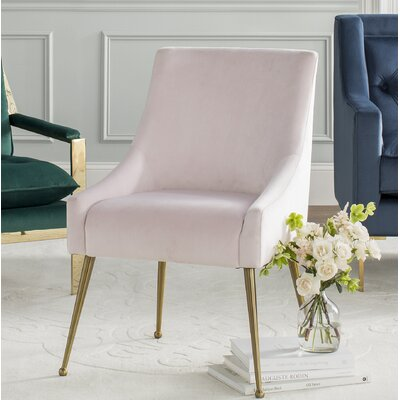 Dusek Dining Chair Color: Blush by Brayden Studio
