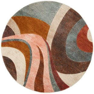 Dufresne Brown/Red Area Rug by Ebern Designs